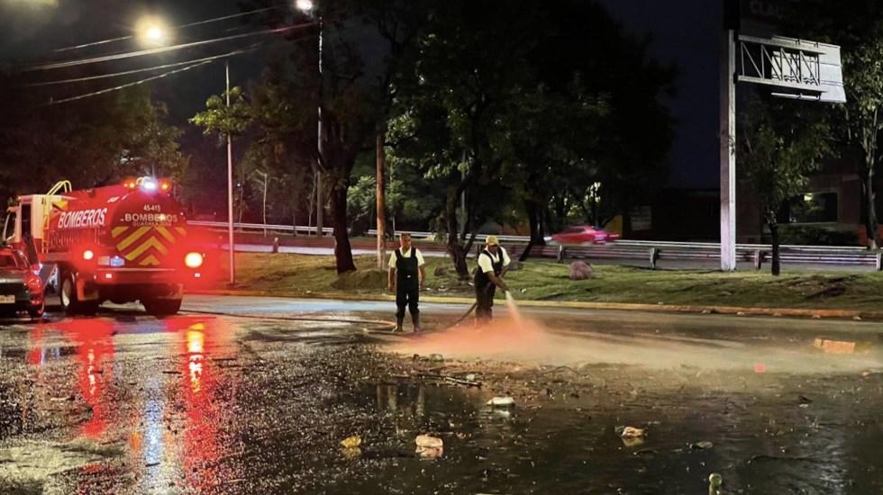 Fuertes lluvias dejan un muerto en Guadalajara - Fuertes lluvias dejan un muerto en Guadalajara. Foto de Twitter Gobierno de Guadalajara