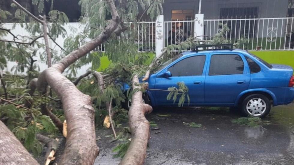 Onda tropical podría convertirse en tormenta; provoca lluvias en Yucatán - Onda tropical podría convertirse en tormenta; provoca lluvias en Yucatán. Foto de Twitter Carlos Joaquín