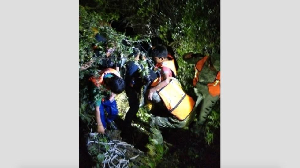 Rescatan en Tequisquiapan a menores atrapados en río San Juan - menores rescate río Tequisquiapan