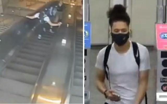 #Video Hombre patea a mujer en Metro de Nueva York; ya fue detenido - Metro Nueva York hombre patea mujer