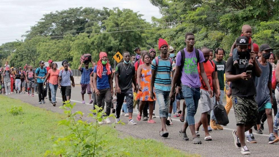 Nueva caravana migrante sale de Tapachula; denuncian intimidaciones - Nueva caravana migrante intentará salir de Tapachula. Foto de EFE