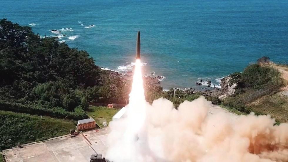 Corea del Norte confirma que lanzó misiles balísticos desde un tren - Corea del Norte confirma que lanzó misiles balísticos desde un tren. Foto de EFE