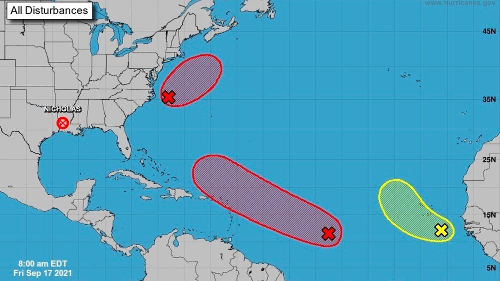 Meteorólogos de EE.UU. vigilan desarrollo de tres sistemas en el Atlántico - NHC Atlántico sistemas