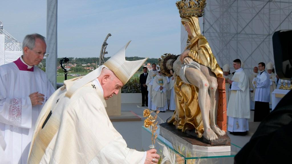 Misa del Papa Francisco en el Santuario Nacional de Sastin en Eslovaquia.