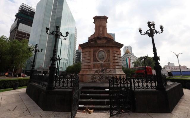 Reubicarán estatua de Colón en parque de Polanco - Pedestal estatua escultura Cristóbal Colón
