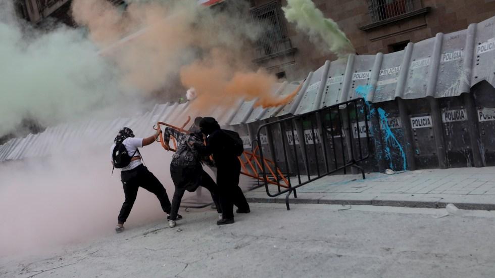 Marcha por el aborto legal en la Ciudad de México dejó 37 lesionados - Protesta Ciudad de México aborto