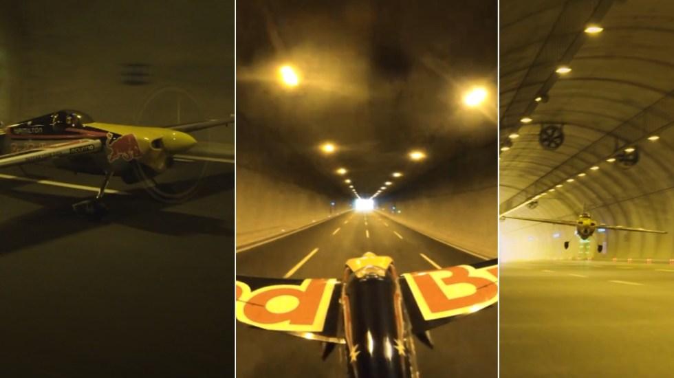 Piloto rompe en Turquía el récord mundial de vuelo en túnel más largo - piloto Récord Red Bull avión Dario Costa Turquía vuelo