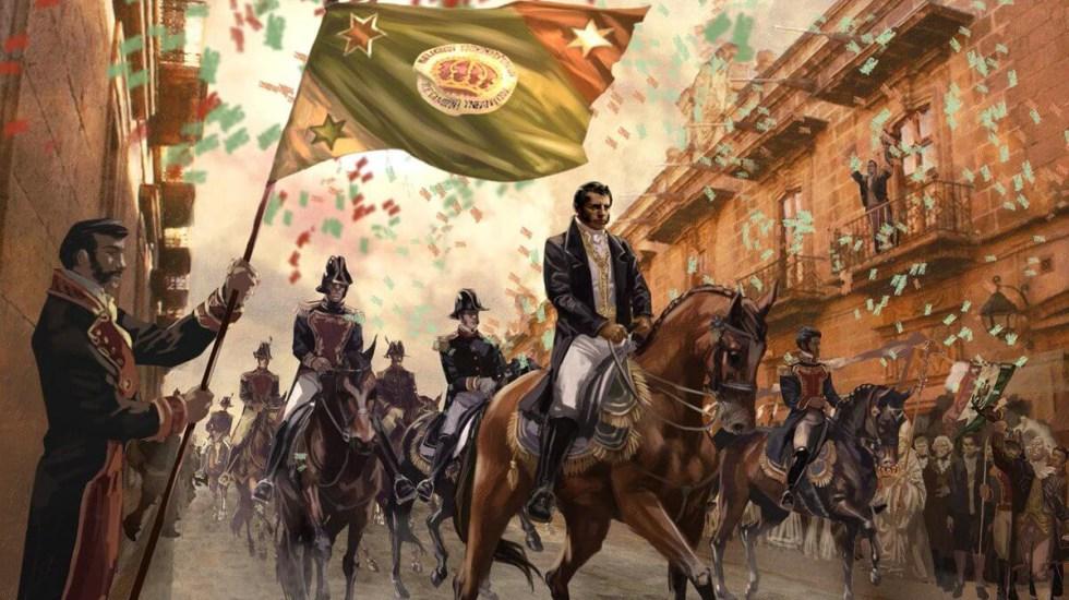 Seis claves de los 200 años de la consumación de la Independencia de México - Representación artística de la entrada triunfal de Agustín de Iturbide a la CDMX