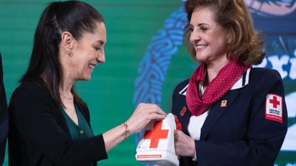 #Video Sheinbaum olvida dinero para donar a colecta de Cruz Roja - Sheinbaum Cruz Roja