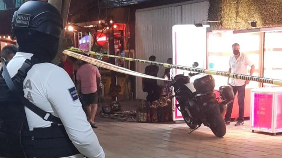 Disparan contra mujer en Playa del Carmen; víctima sobrevivió - Sitio en Playa del Carmen donde mujer fue herida de bala
