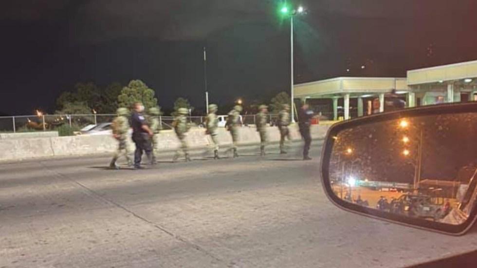 Detienen a militares mexicanos en Puente Internacional Córdova-Américas - militares mexicanos detenidos Texas