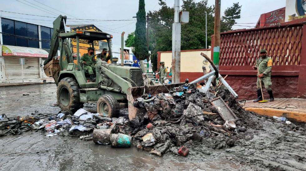 Inundaciones en Tula han dejado dos mil 234 viviendas afectadas - Tula inundaciones Sedena Ejército desastres