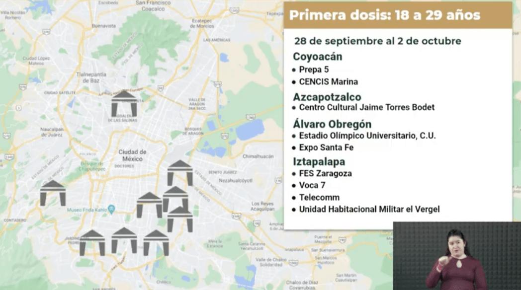 Covid-19: La vacuna se aplicará en estos lugares de la CDMX la próxima semana 6