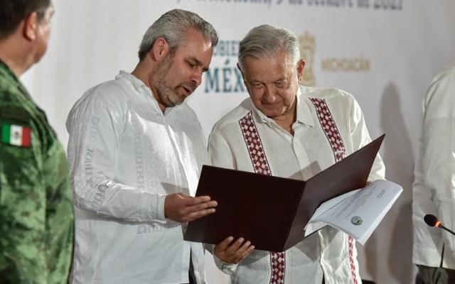 Ya nada me impide venir libremente a Michoacán: López Obrador - AMLO López Obrador Alfredo Ramírez Bedolla Michoacán