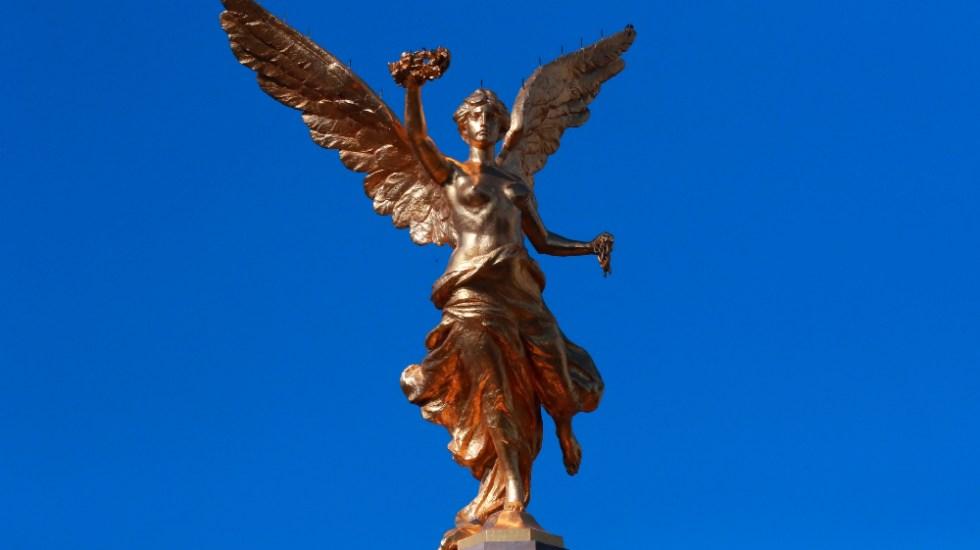 Restauración del Ángel de Independencia concluye tras dos años - Ángel de la Independencia CDMX rest