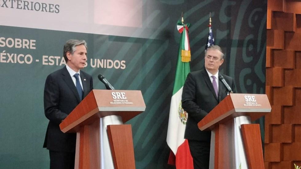 """Estados Unidos declara """"nuevo capítulo"""" en la relación con México como """"socios iguales"""" - Antony Blinken con Marcelo Ebrard"""