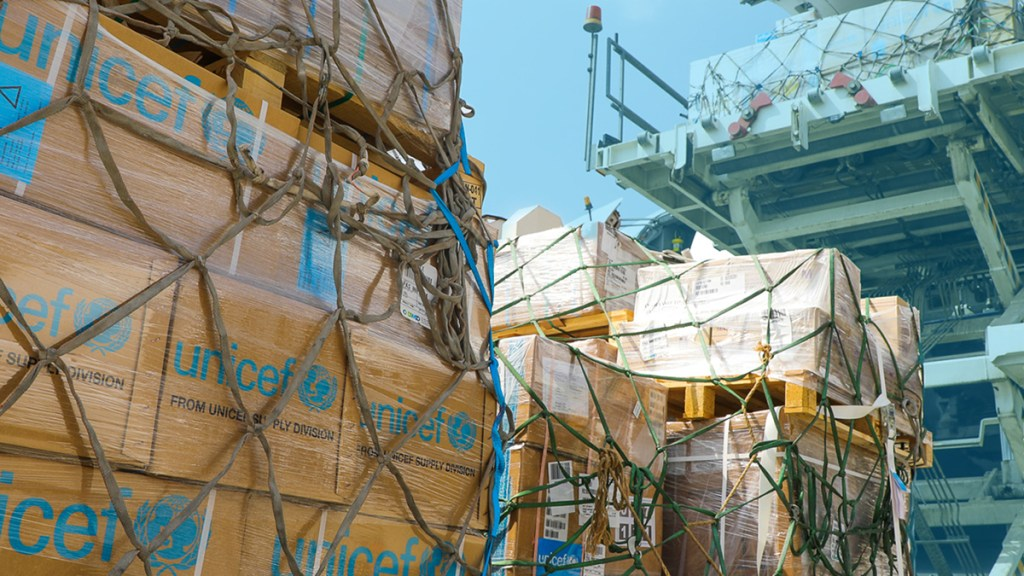 Corea del Norte abre una ruta marítima para recibir ayuda humanitaria - Ayuda humanitaria de Unicef Korea