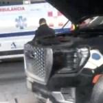 Persecución termina en inmediaciones de AICM; hay tres heridos, uno de ellos detenido