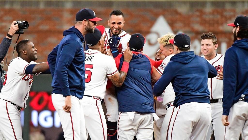 Braves gana segundo juego de la Serie de Campeonato ante los Dodgers - Braves Atlanta partido Dodgers