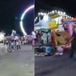 #Video Al menos cuatro lesionados por caída de juego mecánico en Nuevo León