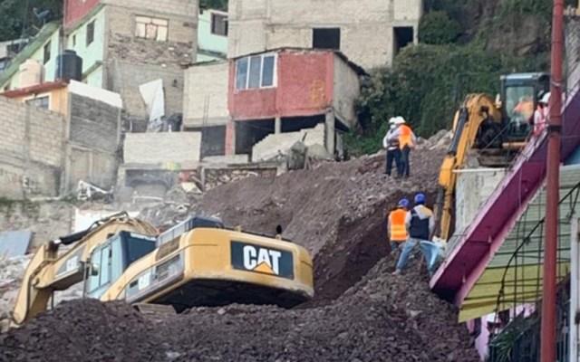 Concluyen demoliciones en Cerro del Chiquihuite; se derribaron 11 casas - Demolición de casas en Cerro del Chiquihuite tras deslave