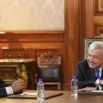 López Obrador recibe a Evo Morales en Palacio Nacional