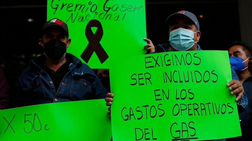 Gaseros extienden paro en Valle de México - Gaseros en paro de labores