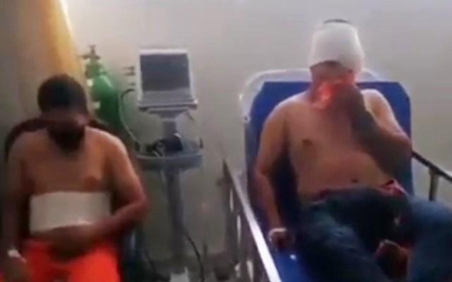 #Video Trabajadores de Dos Bocas denuncian haber sido heridos con granadas - Heridos en represión de protesta en refinería de Dos Bocas