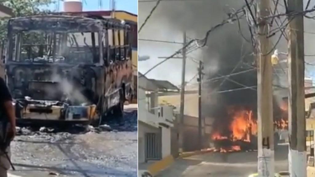 #Video Incendian camión sobre vía pública en Acapulco - Incendio camión urbano acapulco