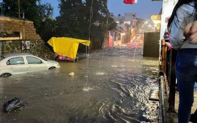 #Videos Inundaciones en Tepoztlán, Morelos, tras fuerte lluvia - Inundación Tepoztlán Morelos lluvia Rick
