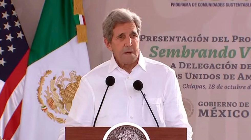 John Kerry defiende la energía eólica y solar ante López Obrador - John Kerry