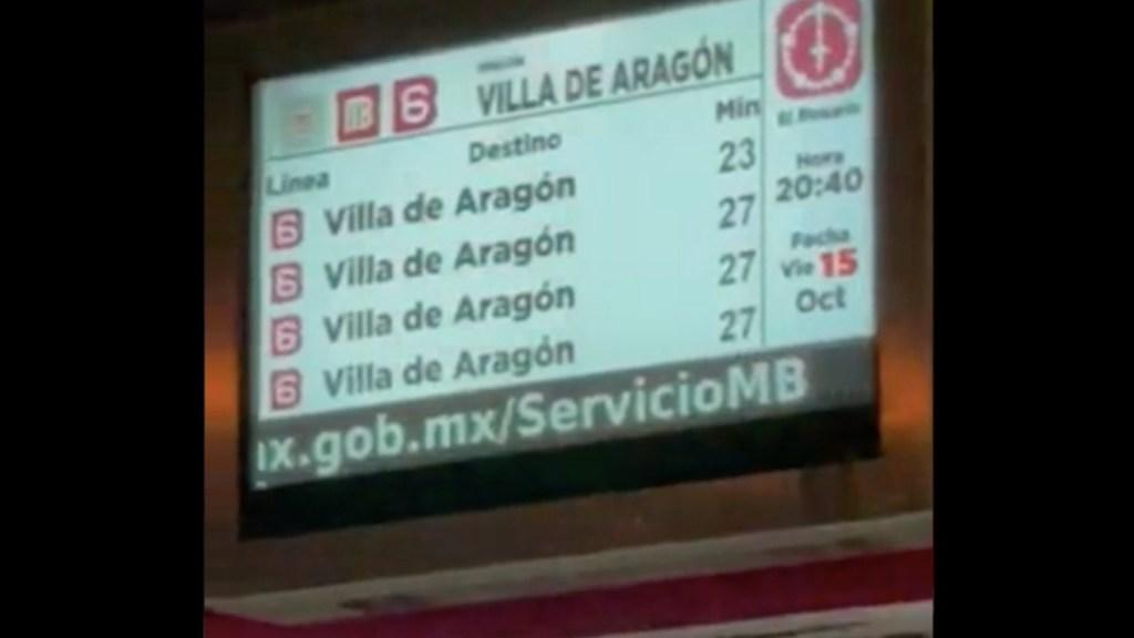 Retrasos en Línea 6 del Metrobús provocan afectaciones en la zona de Martín Carrera - .Retrasos en Línea 6 del Metrobús provoca afectaciones en la zona de Martín Carrera. Foto tomada de video