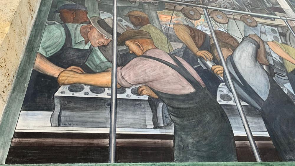 Diego y Frida en Detroit: el grandioso mural y la pérdida de su bebé - Mural de Diego Rivera en Detroit