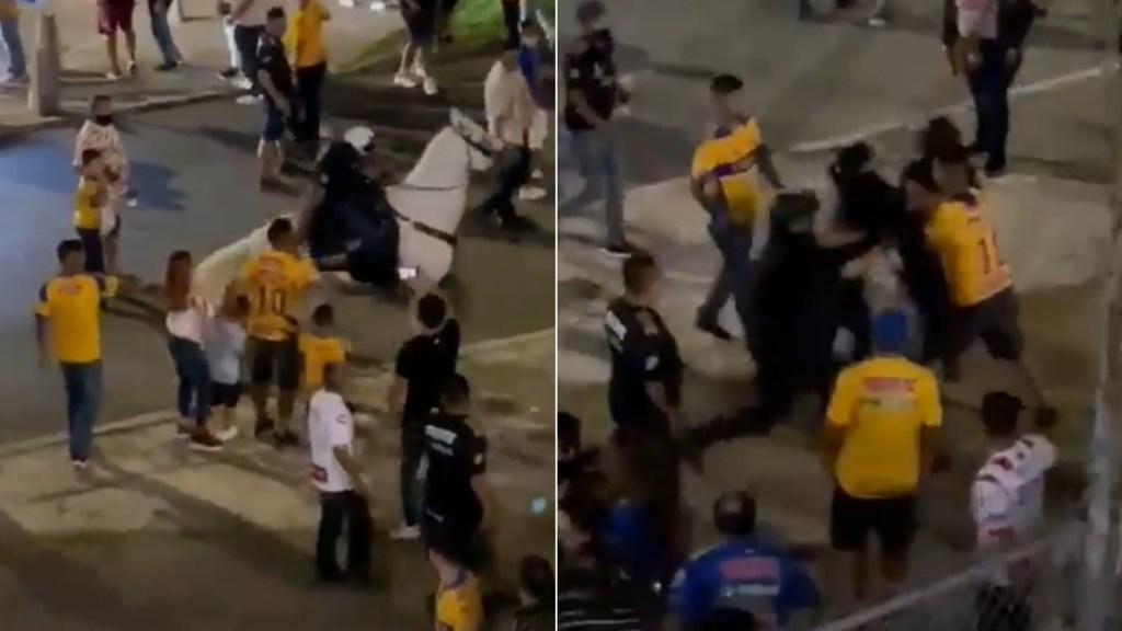 #Video Denuncian abuso policial contra aficionado de Tigres en San Nicolás - Nuevo León aficionado tigres partido