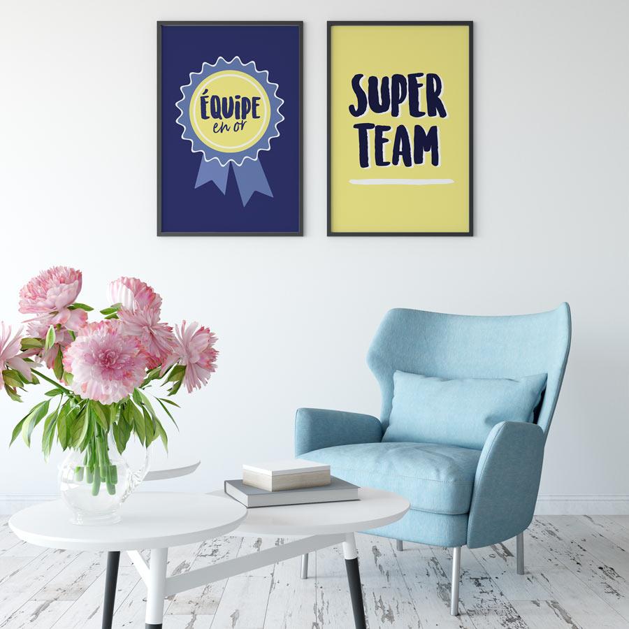 affiches équipe