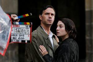 James D'Arcy y María Valverde en el rodaje de 'Gernika' (foto: David Herranz)