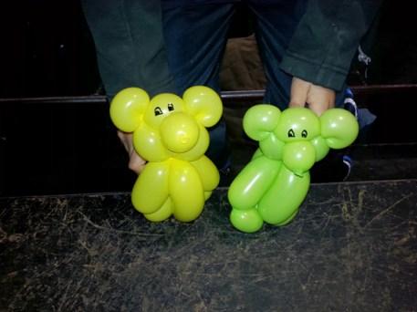 Osos hechos con globos