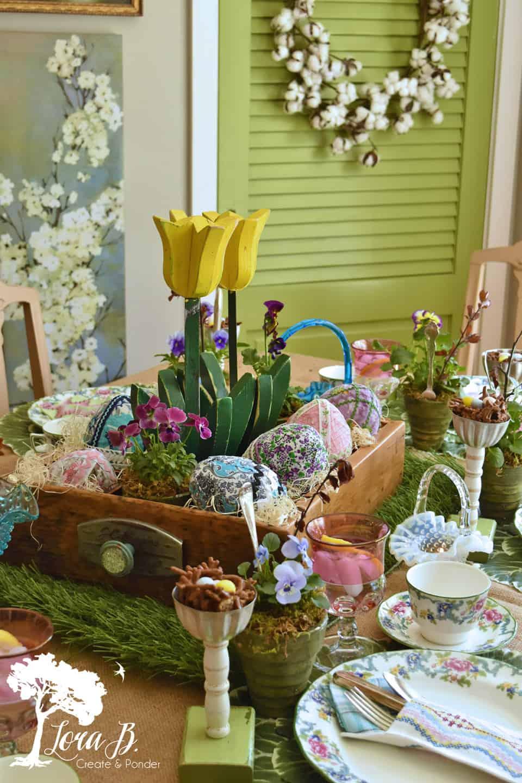Springtime table setting.