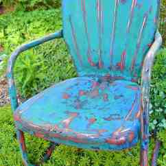 Vintage Lawn Chair Card Tables With Chairs How To Refresh And Enjoy Metal Lora B Create