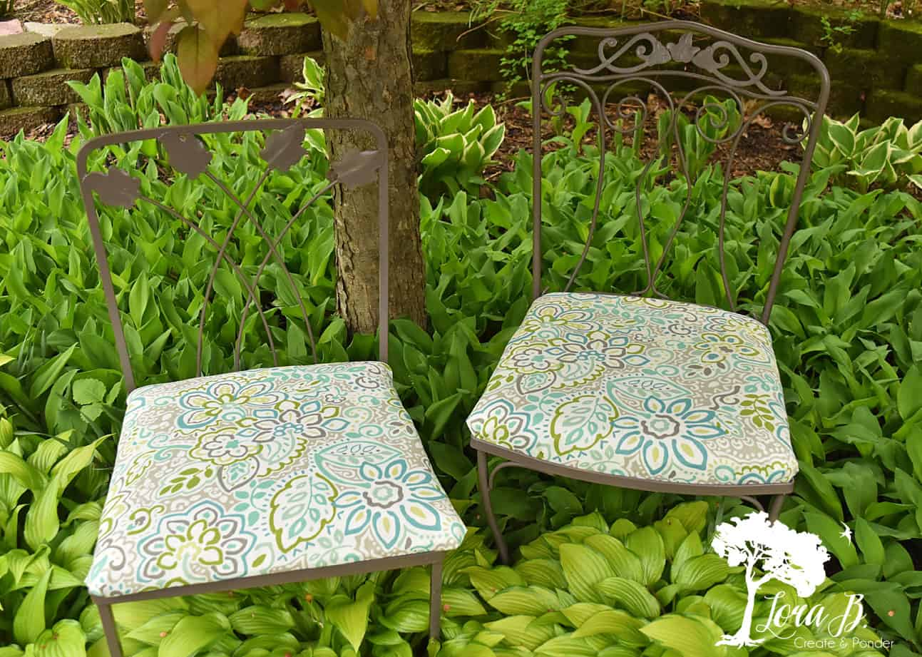 vintage patio chairs refreshed