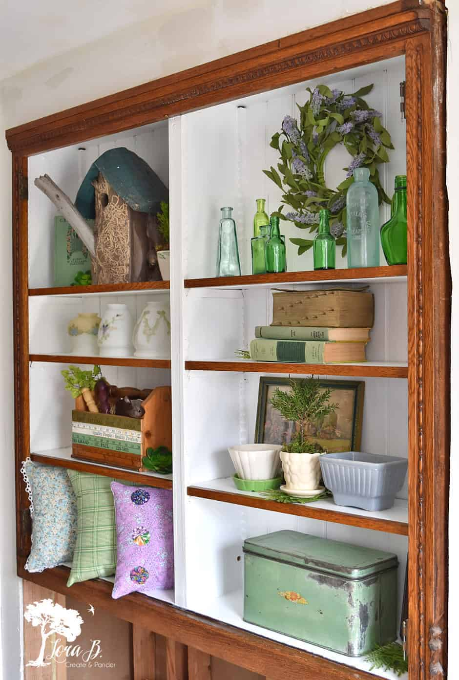 garden-inspired shelves