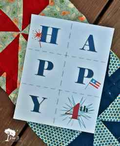 4th of July printable bunting