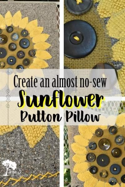 SunflowerButtonPillow