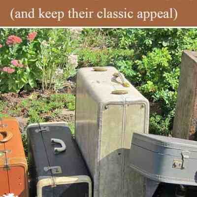 Vintage Suitcases: How to Clean and Refresh (and keep their classic appeal)