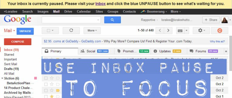 inbox pause example