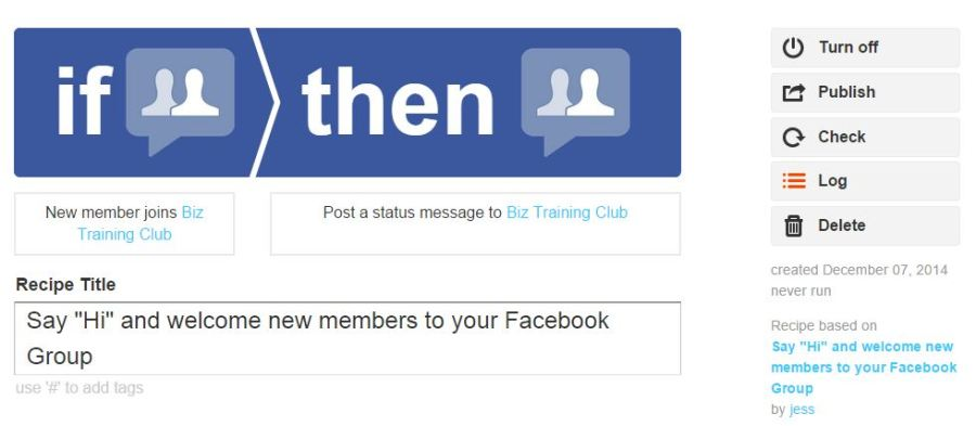 IFTT Welcome new members