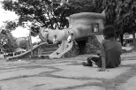 Children playing in the park in the town centre | Another personal favourite. It shows the socio-economic status in the Philippines.