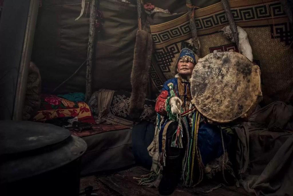 Photo d'un chaman