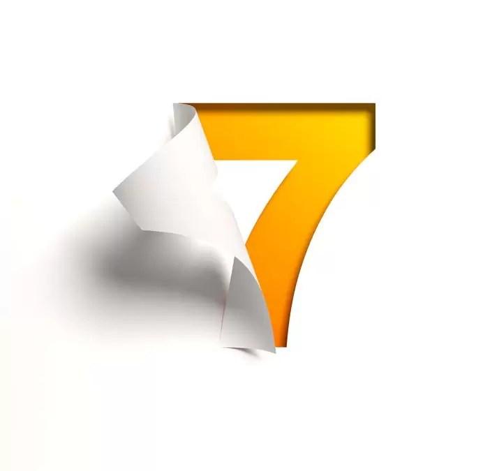 Symbole du chiffre 7