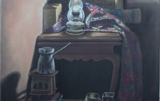 Interior. Lorberboim oil Painting on canvas. New View Exhibitiom. Tlmuseum.com.